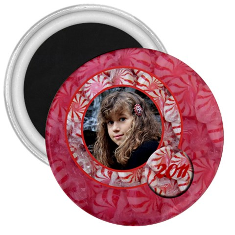 Peppermintcandy Magnet By Patricia W   3  Magnet   Mcrl8fg4l646   Www Artscow Com Front