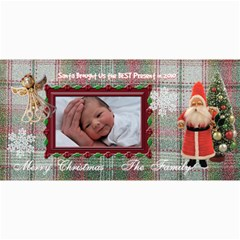 Santa Brought Us The Best Present In 2010 8x4 Photo Card By Ellan   4  X 8  Photo Cards   V9c23ra3bco5   Www Artscow Com 8 x4 Photo Card - 8