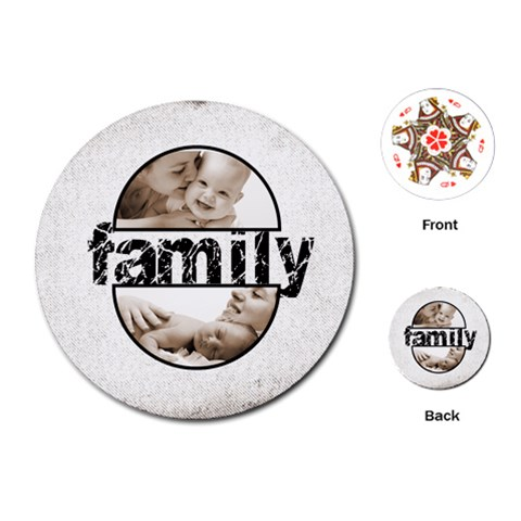 Family Round Semicircle Frame Playing Cards 2 By Catvinnat   Playing Cards (round)   Qktkob98xgan   Www Artscow Com Front