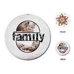 Family round semicircle frame playing cards 2 - Playing Cards (Round)