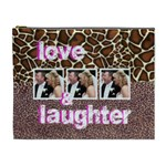 animal print love & laughter extra large cosmetic bag - Cosmetic Bag (XL)
