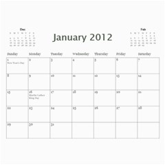 18 Mo Calender By Jan Cockreham   Wall Calendar 11  X 8 5  (18 Months)   6ss3sbmw90ts   Www Artscow Com Jan 2012