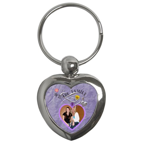 We Are Family Heart Key Chain By Lil    Key Chain (heart)   6y2wk1ui2pb1   Www Artscow Com Front