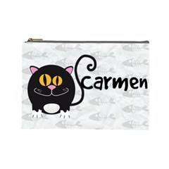 Animaland Cosmetic Bag L 06 By Carol   Cosmetic Bag (large)   Ihl57e5rpp9s   Www Artscow Com Front