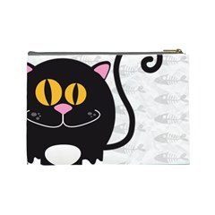 Animaland Cosmetic Bag L 06 By Carol   Cosmetic Bag (large)   Ihl57e5rpp9s   Www Artscow Com Back