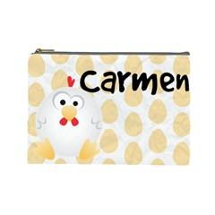 Animaland Cosmetic Bag L 08 By Carol   Cosmetic Bag (large)   Kklbynh3y39h   Www Artscow Com Front
