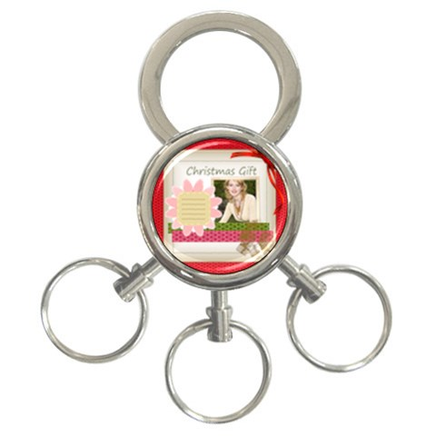 Xmas By Joely   3 Ring Key Chain   4tvpxh1c4gey   Www Artscow Com Front