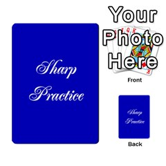 Sharp Practice Cards 1 By Jonathan Davenport   Multi Purpose Cards (rectangle)   Wu4q586a4fjw   Www Artscow Com Back 54