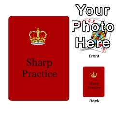 Sharp Practice Cards 1 By Jonathan Davenport   Multi Purpose Cards (rectangle)   Wu4q586a4fjw   Www Artscow Com Front 25