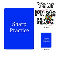 Sharp Practice Cards 1 By Jonathan Davenport   Multi Purpose Cards (rectangle)   Wu4q586a4fjw   Www Artscow Com Front 44