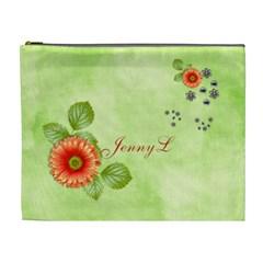Cosmetic Bag (xl)  Orange Twist 6 By Jennyl   Cosmetic Bag (xl)   X1c53edyf3r6   Www Artscow Com Front