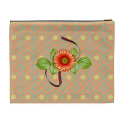 Cosmetic Bag (xl)  Orange Twist 12 By Jennyl   Cosmetic Bag (xl)   1tol7jdw74ux   Www Artscow Com Back