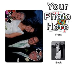 Melissa & Patrick Wedding Photos By Patrick Newport   Playing Cards 54 Designs   T8otir7i53ux   Www Artscow Com Front - Spade2