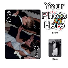 Melissa & Patrick Wedding Photos By Patrick Newport   Playing Cards 54 Designs   T8otir7i53ux   Www Artscow Com Front - Spade3