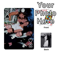 King Melissa & Patrick Wedding Photos By Patrick Newport   Playing Cards 54 Designs   T8otir7i53ux   Www Artscow Com Front - SpadeK