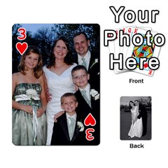 Melissa & Patrick Wedding Photos By Patrick Newport   Playing Cards 54 Designs   T8otir7i53ux   Www Artscow Com Front - Heart3