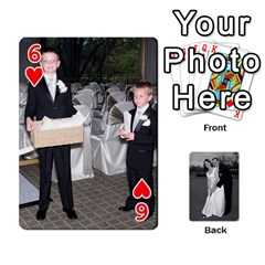 Melissa & Patrick Wedding Photos By Patrick Newport   Playing Cards 54 Designs   T8otir7i53ux   Www Artscow Com Front - Heart6