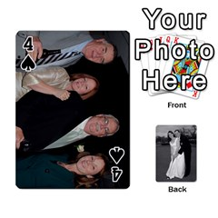 Melissa & Patrick Wedding Photos By Patrick Newport   Playing Cards 54 Designs   T8otir7i53ux   Www Artscow Com Front - Spade4