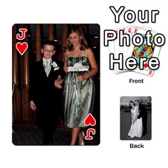 Jack Melissa & Patrick Wedding Photos By Patrick Newport   Playing Cards 54 Designs   T8otir7i53ux   Www Artscow Com Front - HeartJ