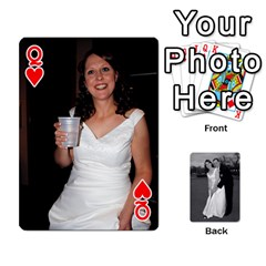 Queen Melissa & Patrick Wedding Photos By Patrick Newport   Playing Cards 54 Designs   T8otir7i53ux   Www Artscow Com Front - HeartQ
