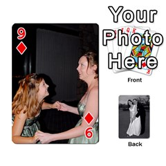 Melissa & Patrick Wedding Photos By Patrick Newport   Playing Cards 54 Designs   T8otir7i53ux   Www Artscow Com Front - Diamond9