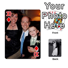 Melissa & Patrick Wedding Photos By Patrick Newport   Playing Cards 54 Designs   T8otir7i53ux   Www Artscow Com Front - Diamond10