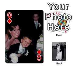 Queen Melissa & Patrick Wedding Photos By Patrick Newport   Playing Cards 54 Designs   T8otir7i53ux   Www Artscow Com Front - DiamondQ