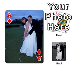 Ace Melissa & Patrick Wedding Photos By Patrick Newport   Playing Cards 54 Designs   T8otir7i53ux   Www Artscow Com Front - DiamondA