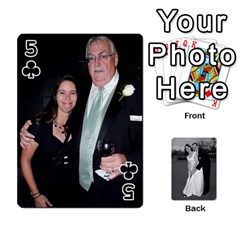 Melissa & Patrick Wedding Photos By Patrick Newport   Playing Cards 54 Designs   T8otir7i53ux   Www Artscow Com Front - Club5