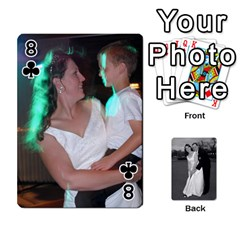 Melissa & Patrick Wedding Photos By Patrick Newport   Playing Cards 54 Designs   T8otir7i53ux   Www Artscow Com Front - Club8