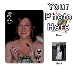 Jack Melissa & Patrick Wedding Photos By Patrick Newport   Playing Cards 54 Designs   T8otir7i53ux   Www Artscow Com Front - ClubJ