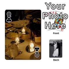 Queen Melissa & Patrick Wedding Photos By Patrick Newport   Playing Cards 54 Designs   T8otir7i53ux   Www Artscow Com Front - ClubQ