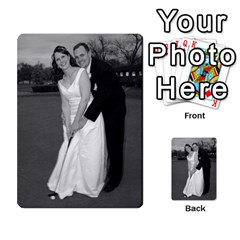 Melissa & Patrick Wedding Photos By Patrick Newport   Playing Cards 54 Designs   T8otir7i53ux   Www Artscow Com Back