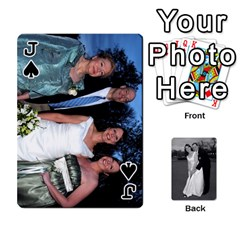 Jack Melissa & Patrick Wedding Photos By Patrick Newport   Playing Cards 54 Designs   T8otir7i53ux   Www Artscow Com Front - SpadeJ