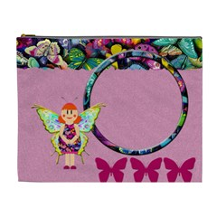 Pink Fairy   Cosmetic Bag (xl) By Carmensita   Cosmetic Bag (xl)   Qb7zb7u3l8u4   Www Artscow Com Front