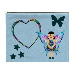 Blue Fairy   Cosmetic Bag (xl) By Carmensita   Cosmetic Bag (xl)   Q4t14wch9pc0   Www Artscow Com Front