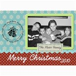 pretty merry christmas card - 5  x 7  Photo Cards