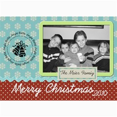 Pretty Merry Christmas Card By Martha Meier   5  X 7  Photo Cards   Rdgrstu1zqbj   Www Artscow Com 7 x5 Photo Card - 7