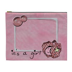It s A Girl   Cosmetic Bag (xl) By Carmensita   Cosmetic Bag (xl)   7um1vt2u3fyj   Www Artscow Com Front