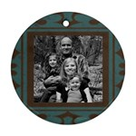 Framed Round Ornament 2 photo - Round Ornament (Two Sides)