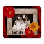 family gerbera mousemat - Large Mousepad