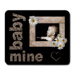baby of mine daisy heart mousemat - Large Mousepad