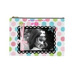 Kirsten By Robin Lodal   Cosmetic Bag (large)   Wyiomvd991sk   Www Artscow Com Front