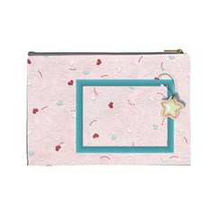With Love Pink  Large Cosmetic Bag By Daniela   Cosmetic Bag (large)   3ci7nujlvk9p   Www Artscow Com Back