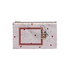 With Love Pink  Small Bag By Daniela   Cosmetic Bag (small)   3seggntuue01   Www Artscow Com Front
