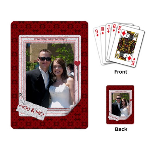 You & Me Playing Cards By Lil    Playing Cards Single Design   O8wtoymggkmq   Www Artscow Com Back