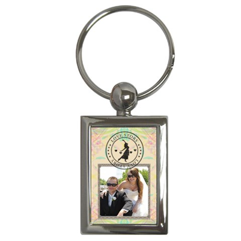Love Story Key Chain By Lil    Key Chain (rectangle)   Lxux8hdhbgua   Www Artscow Com Front