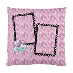 Pink Zebra Pillow By Mikki   Standard Cushion Case (two Sides)   Jmwgs8yzuflg   Www Artscow Com Back