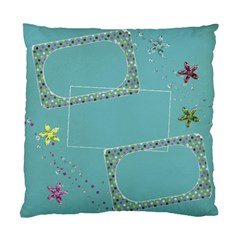 Glitter & Flowers Pillow By Mikki   Standard Cushion Case (two Sides)   0yqh3mxhrtxw   Www Artscow Com Front