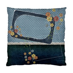 Flowers Blue Pillow By Mikki   Standard Cushion Case (two Sides)   Uypm1787mt33   Www Artscow Com Front